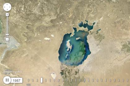 Аральское море в 1987 году