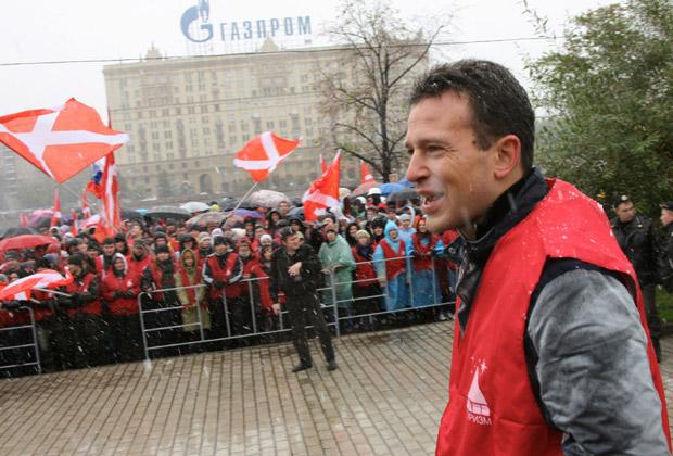 Василий Якеменко на акции движения «Наши»