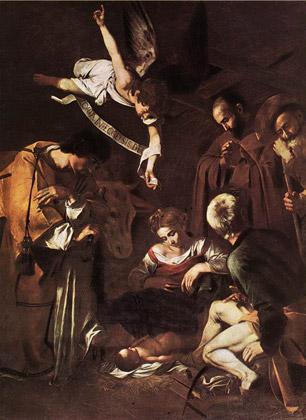 Караваджо, «Рождество со святым Франциском и святым Лаврентием»