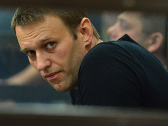 Алексей Навальный на заседании суда об изменении меры пресечения
