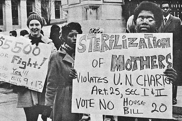 Митинг жертв насильственной стерилизации в Северной Каролине, 1971 год