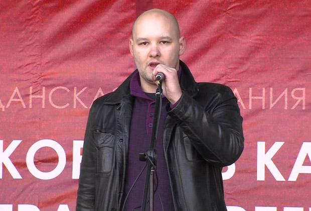 Даниил Константинов на митинге «Хватит кормить Кавказ»