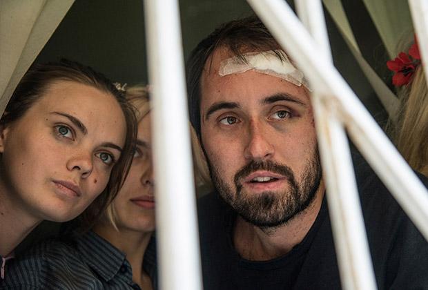 Дмитрий Костюков и активистки Femen
