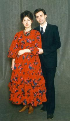 Жанна Цареградская с мужем