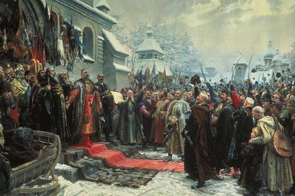 Фрагмент картины Михаила Хмелько «Навеки с Москвой, навеки с русским народом!»