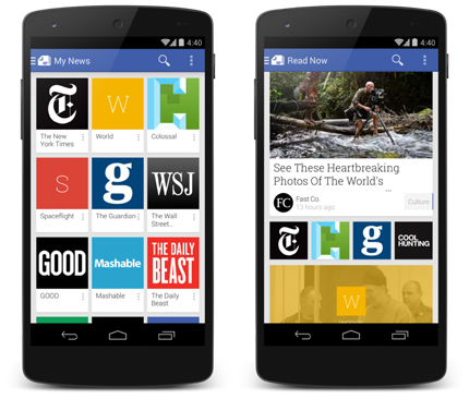 Скриншоты Google Play Newsstand