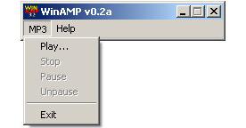 WinAMP 0.2a, март 1997 года