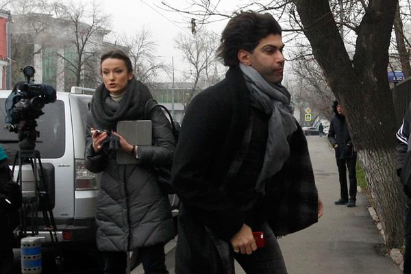 Николай Цискаридзе прибывает на заседание суда