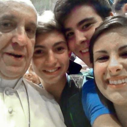 «Селфи» с папой Франциском