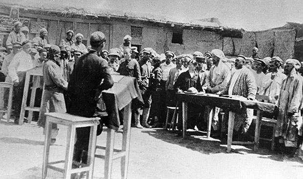 Суд над басмачами в Душанбе