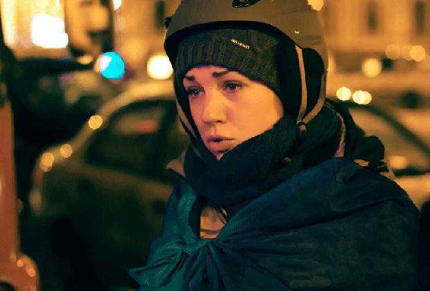 Леся Оробец на Майдане