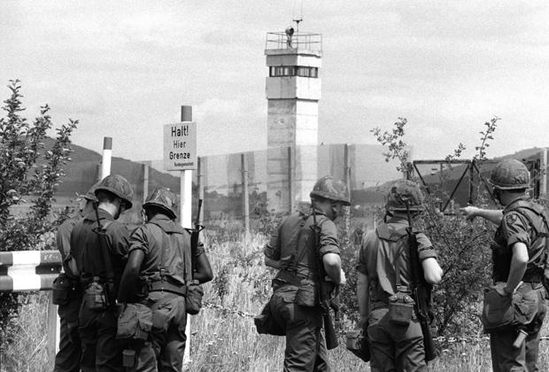 Американские солдаты на границе ФРГ и ГДР. 3 августа 1981 года