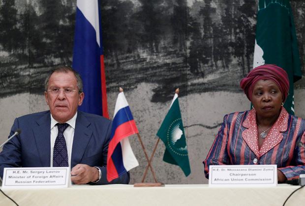 Сергей Лавров и Нкосазана Дламини-Зумо