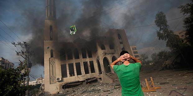 Последствия авиаудара ВВС Израиля по сектору Газа 29 июля 2014 года