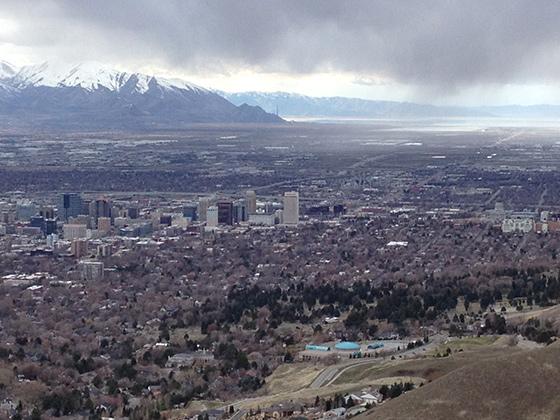 Вид на центр города Солт-Лейк-Сити