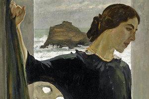 Фрагмент картины «Портрет Марии Цейтлиной»,  Валентин Серов
