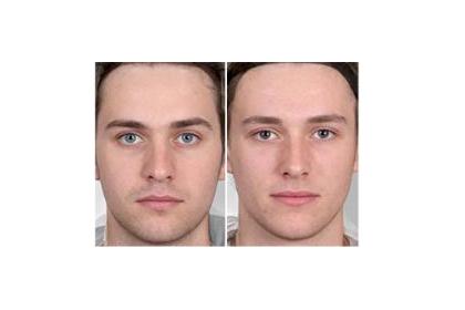 Слева — более маскулинное лицо, чем справа
