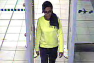 This is a still taken from CCTV issued by the Metropolitan Police in London on Monday Feb. 23, 2015, of 15-year-old Amira Abase 15-year-old Amira Abase going through security at Gatwick airport, before they caught their flight to Turkey on Tuesday Feb 17, 2015. The three teenage girls left the country in a suspected bid to travel to Syria to join the Islamic State extremist group. (AP Photo/Metropolitan Police) NO ARCHIVE
