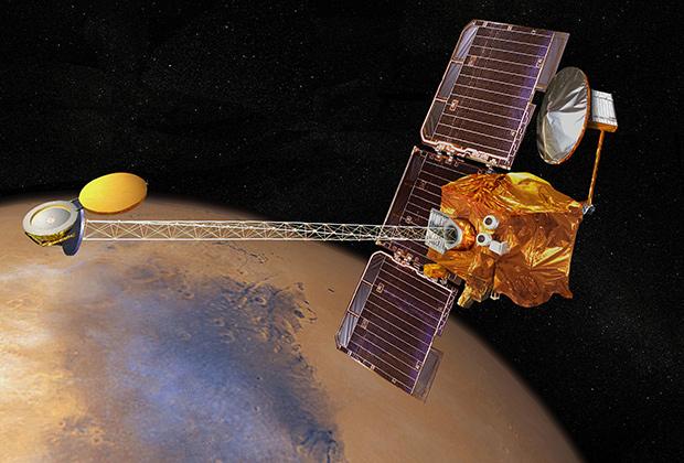 Работа «Марс Одиссея» в представлении художников НАСА