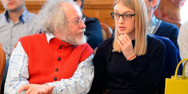 Алексей Венедиктов и Олеся Рябцева