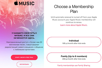 Apple Music ���� �������� � ������