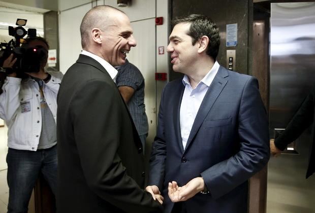 Янис Варуфакис и Алексис Ципрас
