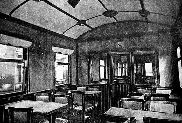 Интерьер вагона-ресторана, 1933 год