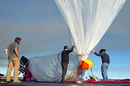 An undated handout photograph made available by Google shows preparations underway for Google's 'Project Loon' in New Zealand.
