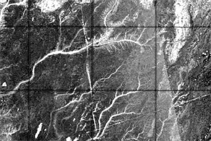 Радарный снимок древней речной системы