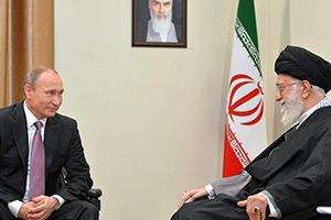 Владимир Путин с верховным руководителем Ирана Али Хаменеи