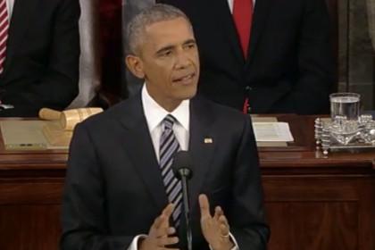 Барак Обама на трибуне Конгресса