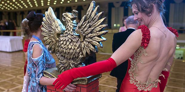 На балу в честь 400-летия Дома Романовых в Кремлевском дворце