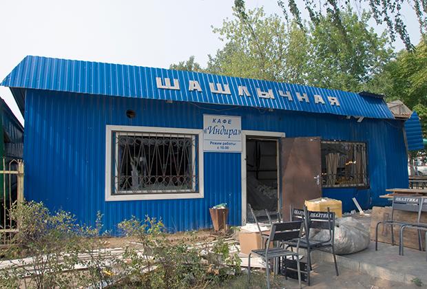Орловское кафе «Индира» после взрыва