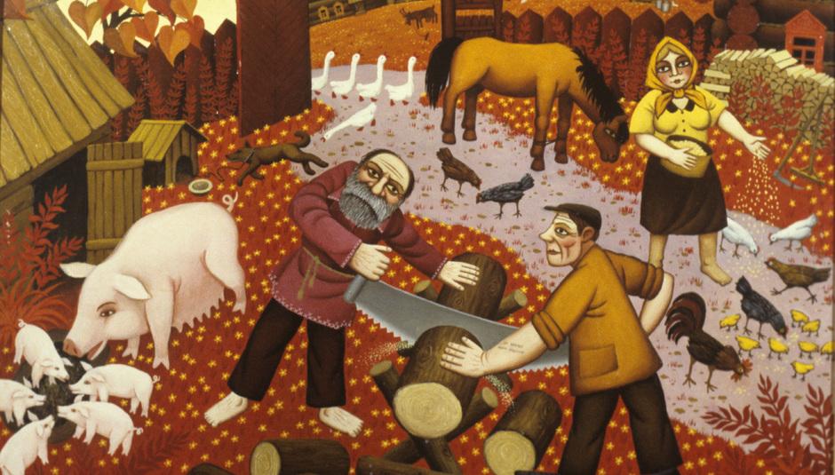 Репродукция картины художника Николая Недбайло «Хорошее натуральное хозяйство»