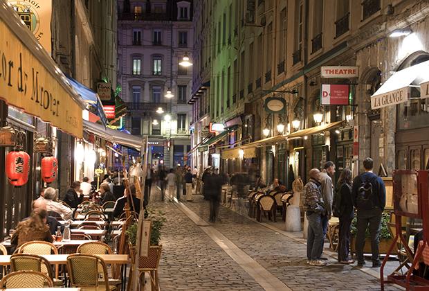 Рестораны на улице Марронье в Лионе