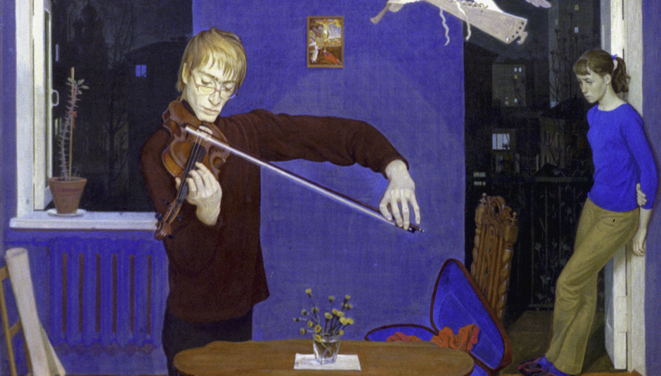 Картина «Альтист. Вечер» художника Дмитрия Жилинского, 1972 год