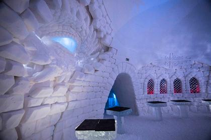 ВФинляндии открыт отель изо льда помотивам «Игры престолов»