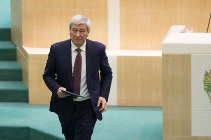 Руководитель Федеральной службы по финансовому мониторингу Юрий Чиханчин после выступления в Совете Федерации РФ.