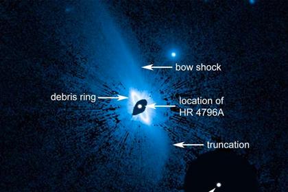 Вокруг звезды заметили структуру неизвестного происхождения