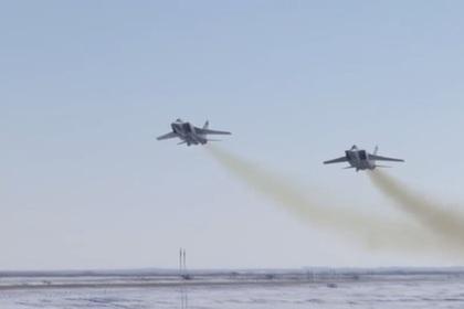 Российские ВКС запустили гиперзвуковую ракету «Кинжал»