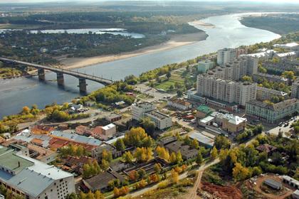 Вид на реку Вятку в Кирове