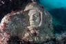 Гордость коллекции посвященных Гагарину памятников. Этот экспонат находится на дне Черного моря, в ста метрах от берега урочища Большой Атлеш (мыс Тарханкут в Крыму). Он является частью так называемой «Аллеи вождей», которую в начале 90-х организовал дайвер Владимир Боруменский. Всего в подводном музее более 50 экспонатов.