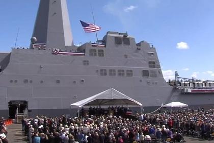 сша ввели строй десантный корабль лазерной пушкой