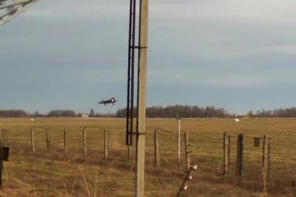 Посадка Су-57 попала на видео