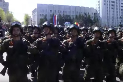 Забытый российский автомат промелькнул на параде