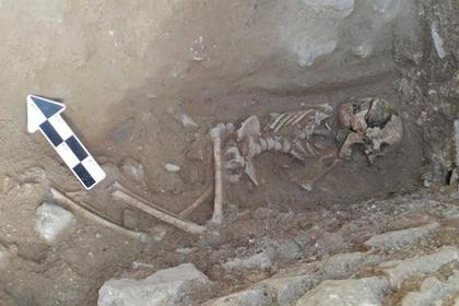 Найдены загадочные останки ребенка-«вампира»