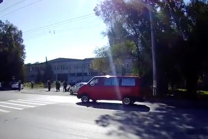 Место мощного взрыва в Крыму попало на видео