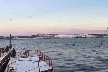 Место затопления ПД-50 попало на видео
