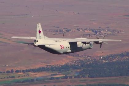 Полет Су-57 сняли с рампы Ан-12