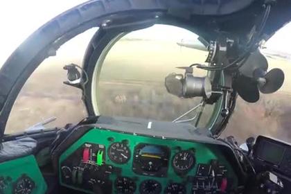 Отработка авиаудара по Донбассу попала на видео